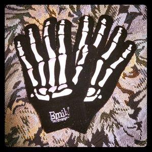 Emily the Strange Skeleton Gloves